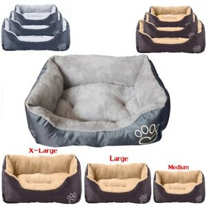 Pet-Basket-Bed-Fleece-Soft-Warm-Comfy-Fabric-Washable-Cat-Dog-Puppy-Mat-DCUK