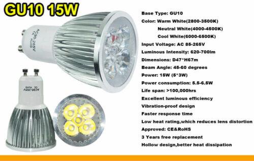 Dimmable LED Spotlight Bulbs GU10 MR16 E27 E14 9W 12W 15W 110V 220V Spot Lamps