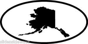 alaska state in oval vinyl decal sticker silhouette ak ebay