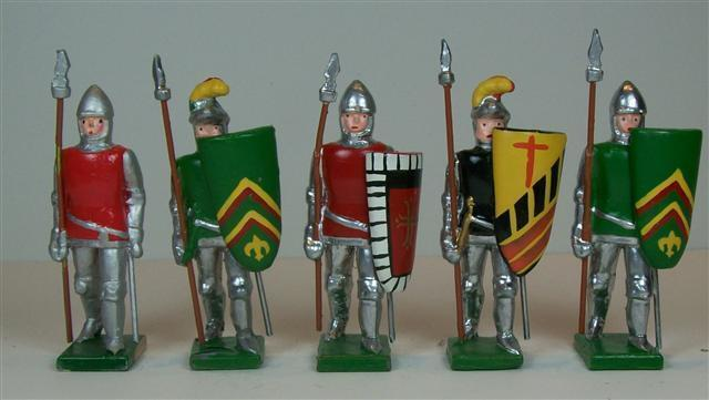 Hampton - M105A - Medieval Men-at-Arms Mixed Lot - 5 pieces - Medieval