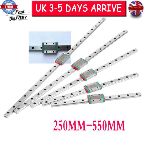 Miniature Sliding Block Linear Guide Rail 250 300 350 400 450 500 550mm CNC Set