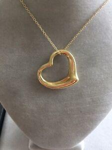 8fa7112fc Tiffany & Co. Elsa Peretti 18K Gold X Large Open Heart Pendant 30 ...