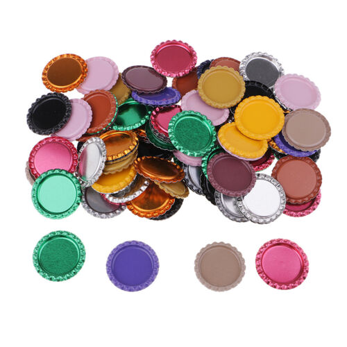 100pcs Flat Bottle Caps Scrapbook Embellishment for Art Craft Jewelry Making