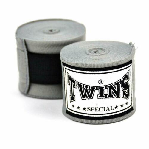 Twins Boxing Hand Wraps 5 Metre Premium Elastic Cotton Grey