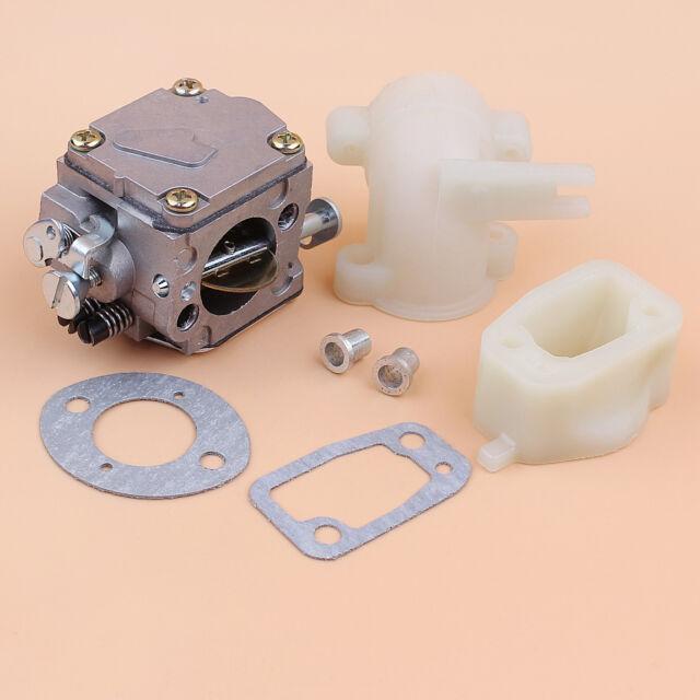 Carburetor Carb Manifold /& Elbow Kit Fit for HUSQVARNA 61 266 268 Chainsaw