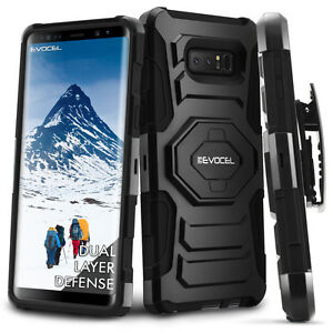 Galaxy-Note-8-Case-Evocel-Rugged-Holster-Dual-Layer-Case-w-Kickstand-amp-Clip