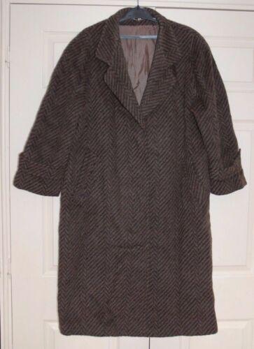 lana maglia lungo nero Lama cappotto marrone L New pesante chevron nascosti bottoni Yn8IEwTxq