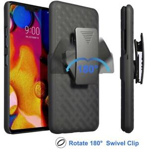 For-LG-V40-ThinQ-Shockproof-Case-With-Kickstand-Belt-Clip-Cover-Screen-Protector