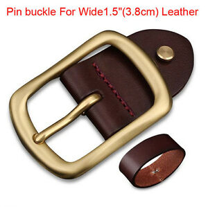 New-Top-quality-Golden-men-039-s-Belt-buckle-pin-buckle-For-Wide-1-5-034-3-8cm-Leather
