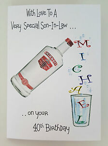 Image Is Loading Personalised Birthday Card Son In Law Vodka Dad