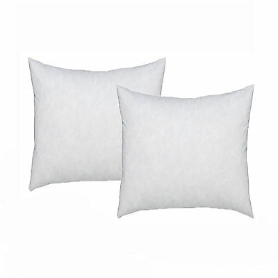 PAIR of Feather Filled Square Cushion Inserts - 40cm x 40cm