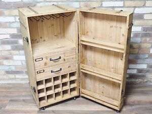 Antique style wood wine cabinet, Wood wine drinks trolley, Ideal ...