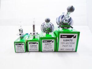Lucas-Car-Bulbs-H1-H3-H4-H7-453-448-477-472-P43T-PX26D-PK22S-HeadLight-12v-55w
