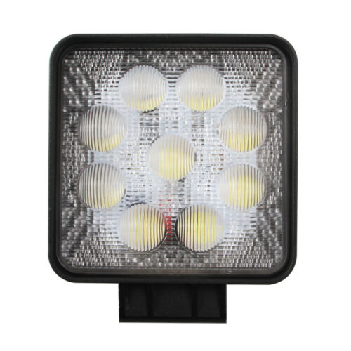 2pcs 27W Square LED Work Light Truck DRL Driving Offroad 5D Opticals 4WD 1980lm
