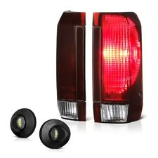 item 1 89-96 f150 f250 f350 | 92-96 bronco red smoke tail lamp led license  plate light -89-96 f150 f250 f350 | 92-96 bronco red smoke tail lamp led  license