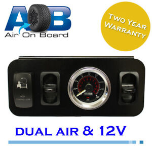 Details about Pressure gauge 220S air ride suspension twin bag control unit  genuine viair 4wd