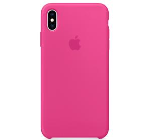 Echt-Original-Apple-iPhone-XS-Silikon-Huelle-Silicone-Case-Drachenfrucht-PINK