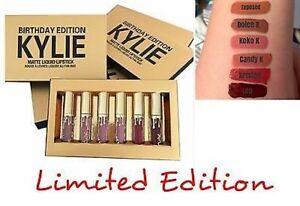 Kylie Birthday Edition Mini Liquid Lipsticks Lip Colors - Set Of 6 Shades