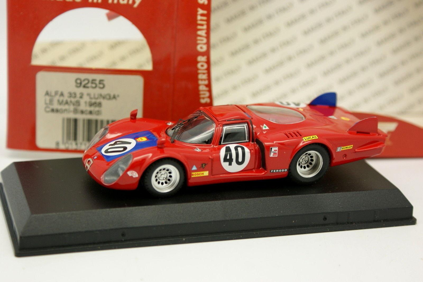 autorización Best 1 43 - Alfa Romeo 33 33 33 2 Coda Lunga Le Mans 1968 N°40  precios bajos todos los dias