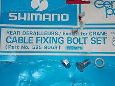 VINTAGE SHIMANO REAR DERAILLEUR CABLE FIXING BOLT SET PN 5259068 NOS JAPAN