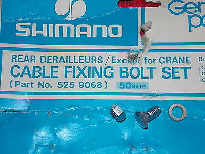 Vintage NOS Shimano Bicycle Rear Derailleur Cable Fixing Bolt Set # 525 9068