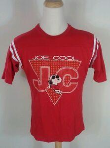 Vintage 70's Snoopy Peanuts Charlie Brown Joe Cool Germany T Shirt XL Dog