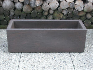 Pflanzkuebel-Blumenkuebel-80x29x26cm-Kubus-rostbraun-Kunststoff-Trend-Lounge