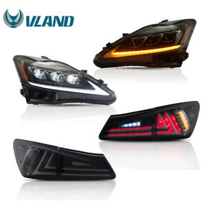 FULL LED Headlight + Tail Light VLAND For Lexus IS250 IS350 ISF 2006-2012 New