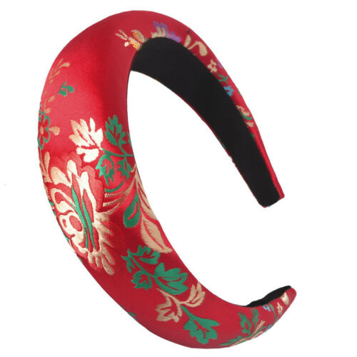 Women/'s Sponge Padded Headband Hairband Flower Satin Hair Hoops Band Accessories