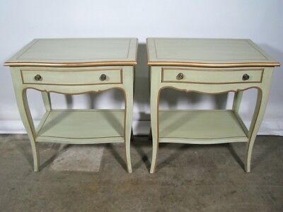 Pair Of High End Mint Green Custom Nightstands By Julia Gray New York Designer Ebay
