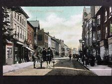 RP Vintage Postcard - Yorks. #C2 - High Street, Harrogate - Horse Cab Shops