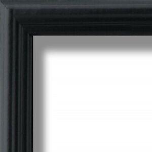 """US ART Frames .75"""" Black Solid Poplar Wood Picture Poster Frames S-B"""