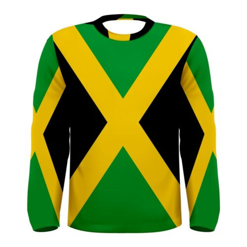 Nuova bandiera jamaican fresco Sublimated Uomo A maniche lunghe T-shirt S M L XL 2XL 3xL