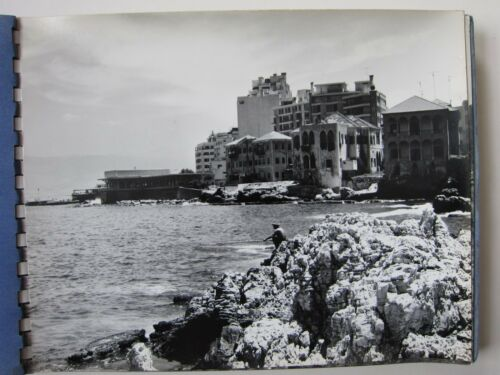 1967 PHOTO ALBUM LEBANON BEIRUT CYPRUS BAALBEK 50 pics SOLDIERS PEOPLE BUILDINGS