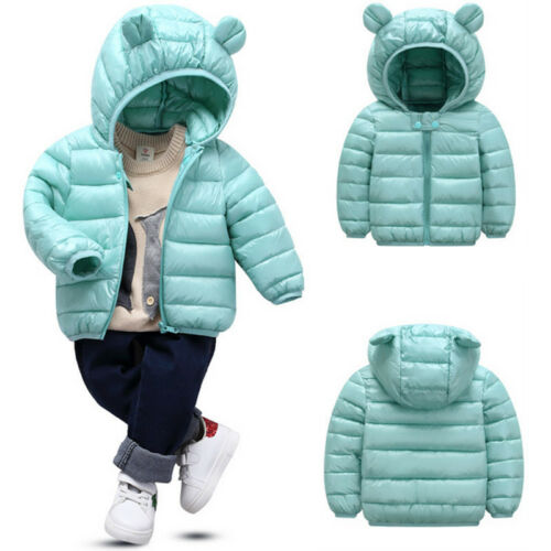 Toddler Baby Boy/'s Girls Hooded Coat Jacket Kids Winter Quilted Puffer Outwear