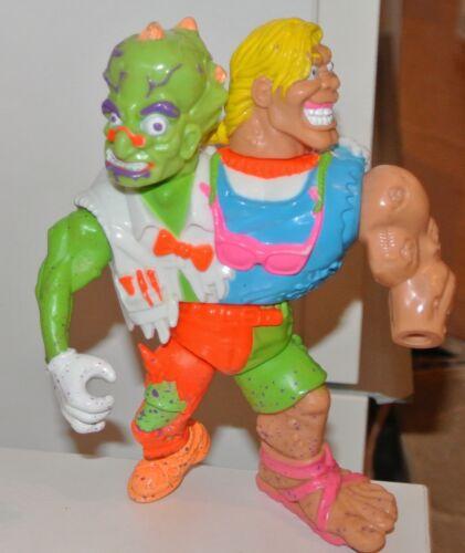 1991 PLAYMATES toxiques croisés Action Figures Psycho Troma Headbanger crétine