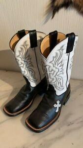 Bottes western santiag femme TONY LAMA cuir 6M US 4,5 UK 37,5 EUR 24 cm