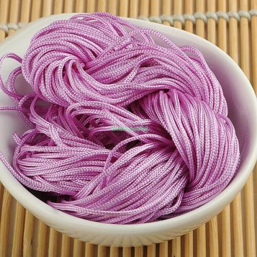Chinese Knot Satin Nylon Beading Cord Macrame Bracelet Thread String 1mm//1.5mm
