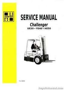 Hyster Challenger HE50 UE30 YE40 Forklift Gas Diesel Service Manual   eBay   Hyster 65 Forklift Wiring Diagram      eBay