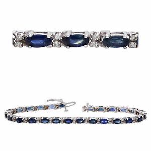 14k-White-Gold-8-15ctw-Sapphire-amp-Diamond-Anniversary-Bracelet