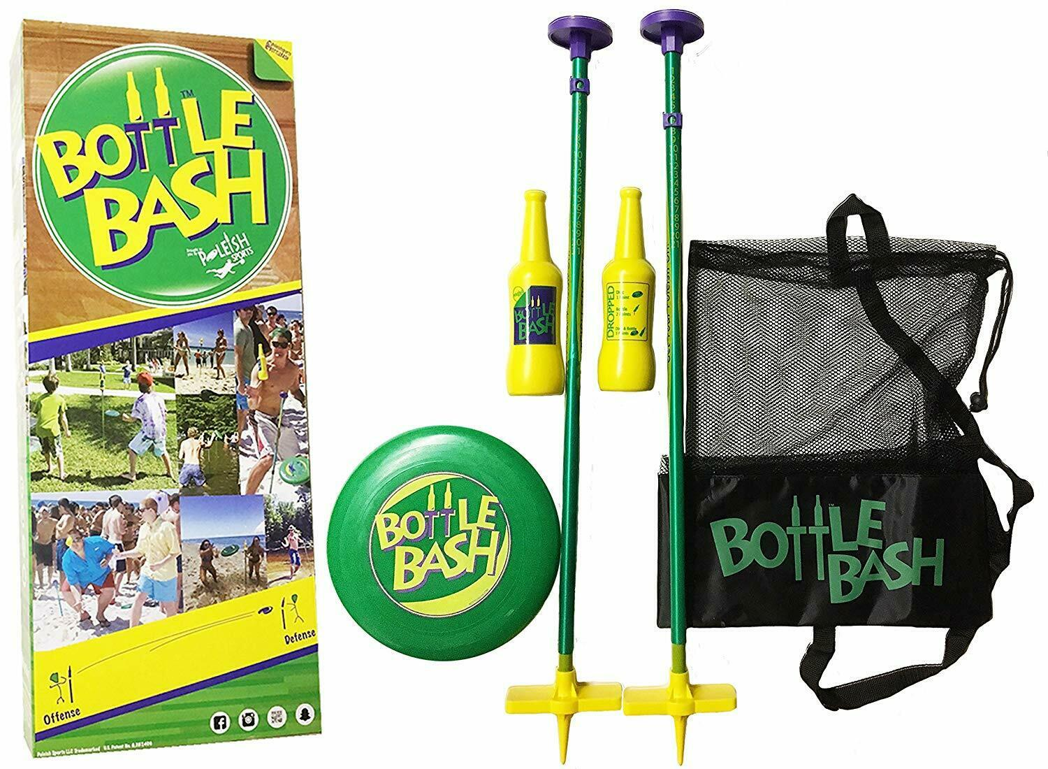 Bottle Bash Family Game Set With Soft Surface Spike Outdoors Yard Beach Sports