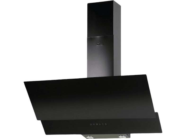 Campana Decorativa Cristal negro OK OHO 9313. 90 cm, 450 m3/h, 3...