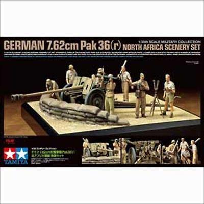 Tamiya 32408 1/35 German 7.62cm Pak 36(r North Africa Scenery Set from Japan