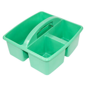 Details About Small Mint Green Storage Basket With Handle Desk Cleaning Sink Caddy Box Tidy