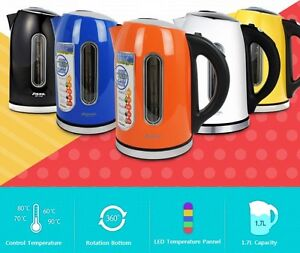 SHINIL Colorfull Cordless Electric Tea Pot Kettle Temperature Control 1.7L