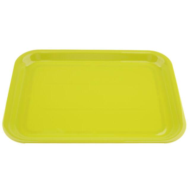 Serving Tray Melamine Plastics Dish Plate Hotel Rectangular Platter S M L XL