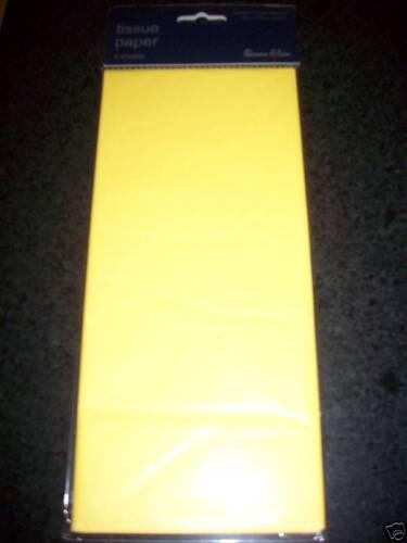 CRAFT TISSUE PAPER 10sht 75cm*50cm YELLOW EASTER