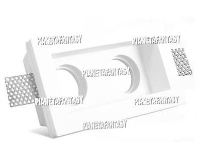 Porta Faretto in Gesso Ceramico a incasso + Portalampada led gu10 LOTTO 10 PEZZI
