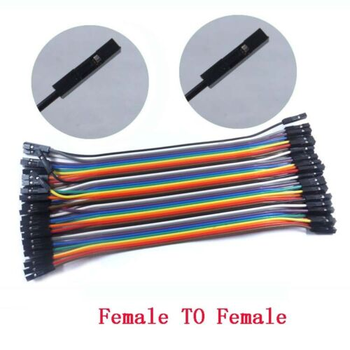 40P DuPont 2.54mm Rainbow Cable Ribbon Jumper Wire 10cm 100cm Female TO Female
