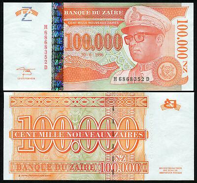 ZAIRE 50,000 50000 ZAIRES 1996 P 75 HDMZ UNC